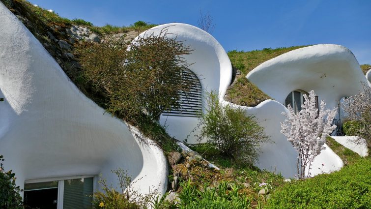 Architecture Live House Grass Round Shape